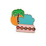Fachina Cute Tree with Sea  Enamel Brooch