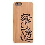 For Shockproof Embossed Case Back Cover Case Glitter Shine Flower Hard Bamboo for Apple iPhone 6s Plus  6 Plus 6s  6 5s 5