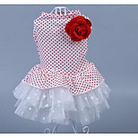 Dog Dress Dog Clothes Spring/Fall Princess Cute Fashion