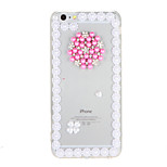 For Rhinestone Transparent Case Back Cover Case Flower Hard PC for Apple iPhone 7 Plus  7  6s Plus 6 Plus  6s 6