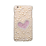 For Rhinestone DIY Case Back Cover Case Glitter Shine Heart Soft TPU for Apple iPhone 6s Plus  6 Plus  6s 6  5s  5 4s 4