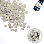 1 Bottle 3mm Fashion Laser Glitter Stripe Round Paillette Nail Art Glitter Decoration DIY Nail Shiny Clear Thin Slice Beauty Tips TW03