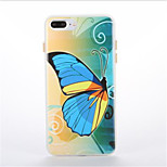 For Glow in the Dark Pattern Case Back Cover Case Butterfly Soft TPU for Apple iPhone7 7plus 6 6Splus 5 5S