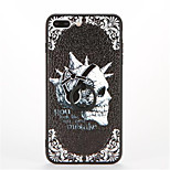 For Ring Holder Embossed Pattern Case Back Cover Case Skull Hard PC for Apple iPhone 7 Plus iPhone 7 iPhone 6s Plus iPhone 6 Plus iPhone