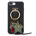 For DIY Retro Hoop Clover Pendant with Hard PC Back Cover Case for Apple iPhone 7 Plus iPhone 7 iPhone 6s Plus iPhone 6 Plus iPhone 6s iPhone 6