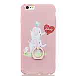 For Ring Holder Pattern Case Back Cover Case Elephant Hard PC for Apple iPhone 6s Plus iPhone 6 Plus iPhone 6s iPhone 6