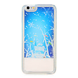 For Flowing Liquid Case Back Cover Case Snowflake Soft TPU for Apple iPhone 7 Plus iPhone 7 iPhone 6s Plus iPhone 6s