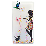 For Huawei P8 Lite (2017) P9 Lite Case Cover Girls And Cats Pattern Painted Point Drill Scrub TPU Material Luminous Phone Case
