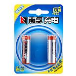 Nanfu aa níquel metal hidruro batería recargable 1.2v 1600mah 2 pack
