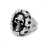 Motorcycle Chain Skeleton Skull Crusades Cross Rings For Men Punk Biker Rock Man Jewelry Vintage Accessories Stainless Steel