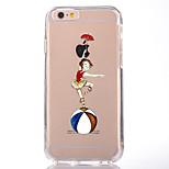 Pour Transparente Motif Coque Coque Arrière Coque Femme Sexy Flexible PUT pour AppleiPhone 7 Plus iPhone 7 iPhone 6s Plus iPhone 6 Plus