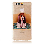 For Huawei P9 P9 Lite Case Cover IMD Pattern Back Cover Dog Soft TPU P8 Lite