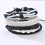 The New Vintage Cowhide Ancient Hand Woven Bracelet Cortical Layers Hand Rope Men's Bracelet Adjustable Size048