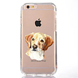 Für Transparent Muster Hülle Rückseitenabdeckung Hülle Hund Weich TPU für AppleiPhone 7 plus iPhone 7 iPhone 6s Plus iPhone 6 Plus iPhone