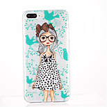 For Pattern Case Back Cover Case Sexy Lady Soft TPU for Apple iPhone 7 Plus iPhone 7