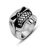 Ring Euramerican Titanium Steel Irregular Silver Jewelry For Daily 1pc