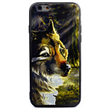 For Apple iPhone 7 7 Plus 6s 6 Plus Case Cover Wolf Pattern Thicker TPU Material Scrub Soft Case Phone Case