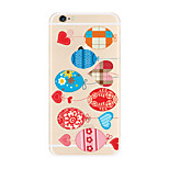 For Transparent Pattern Case  Heart Soft TPU for Apple iPhone 7 Plus 7 iPhone 6 Plus 6 iPhone 5 SE 5C iphone 4