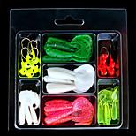 2 pcs Soft Bait Random Colors 77 g Ounce mm inch,Plastic General Fishing