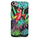 For Apple iPhone 7 7 Plus 6S 6 Plus Case Cover Parrot Pattern Painted Relief Luminous Touch Skin Care PC Material Phone Case