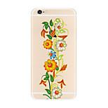 Para Transparente Estampada Capinha Capa Traseira Capinha Flor Macia TPU para AppleiPhone 7 Plus iPhone 7 iPhone 6s Plus iPhone 6 Plus