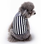 Cat Dog Vest Dog Clothes Summer Stripe Cute Fashion Casual/Daily Red Black Pet Clothing