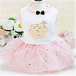 Dog Dress Dog Clothes Spring/Fall Lace Cute