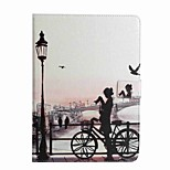 For Card Holder Wallet with Stand Flip Pattern Case Full Body Case City View Hard PU Leather for Apple iPad 4/3/2