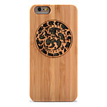 For Shockproof Embossed Case Back Cover Case Glitter Shine Hard Bamboo for Apple iPhone 6s Plus  6 Plus 6s  6 5s 5