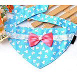 Hunde Kopftücher & Hüte Hundekleidung Frühling/Herbst Gepunktet Niedlich Purpur Kaffee Blau Rosa
