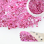 1 Bottle Sweet Style Charming Pink Nail Art Glitter Water Droplet Paillette Decoration Beautiful Shiny Thin Slice Nail DIY Beauty Decoration D11