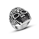 Ring Hip-Hop Titanium Steel Irregular Black Jewelry For Daily 1pc