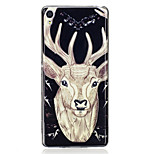 For Sony Xperia XA Case Cover Deer Pattern Luminous TPU Material IMD Process Soft Case Phone Case