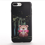 For Pattern Case Back Cover Case Cartoon Soft TPU for Apple iPhone 7 Plus iPhone 7