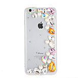 For Rhinestone Case Back Cover Case Glitter Shine Hard PC for Apple iPhone 7 Plus iPhone 7 iPhone 6s Plus iPhone 6 Plus iPhone 6s iPhone 6