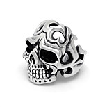 Vintage Domineering Punk Skull Ring for Man Offbeat Anger Fire Skeleton Men's Rings Halloween Birthday Christmas Jewelry Gifts