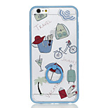 For Ring Holder Pattern Case Back Cover Case Cartoon Hard PC for Apple iPhone 6s Plus iPhone 6 Plus iPhone 6s iPhone 6