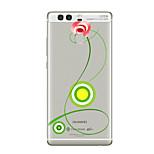 Für Transparent Muster Hülle Rückseitenabdeckung Hülle Blume Weich TPU für HuaweiHuawei P10 Plus Huawei P10 Huawei P9 Huawei P9 Lite