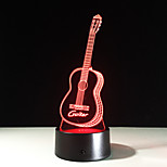 New Action Figure 7 Colors Guitar 3D Visual Led Night Lights As Bedroom Table Lamp Best Gifts For Kids Friends Acrylic