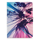 For Apple iPad 4 3 2 Case Cover Silk Pattern Painted Card Stent Wallet PU Skin Material Flat Protective Shell