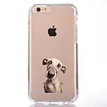 Para Transparente Estampada Capinha Capa Traseira Capinha Cachorro Macia TPU para AppleiPhone 7 Plus iPhone 7 iPhone 6s Plus iPhone 6