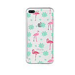 Para Estampada Capinha Capa Traseira Capinha Flamingo Macia TPU para AppleiPhone 7 Plus iPhone 7 iPhone 6s Plus iPhone 6 Plus iPhone 6s
