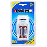 Nanfu aa níquel metal hidreto bateria recarregável 1.2v 1600mah 2 pack