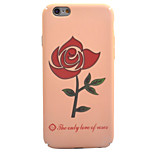 For Apple iPhone 7 7 Plus 6S 6 Plus Case Cover Roses Pattern Touch Skin Care PC Material All-Inclusive Phone Case