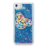 For Rhinestone Colorful gemstone Ears Flowing Liquid DIY Case Back Cover Case Glitter Shine Soft TPU for Apple iPhone 7 7 Plus 6s 6 Plus