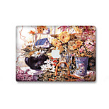 For MacBook Air 11 13/Pro13 15/Pro with Retina13 15/MacBook12 Oil Painting Flowers Decorative Skin Sticker Glow in The Dark