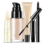5Pcs/Set Bioaqua Bright Cosmetics Makeup Set Lip Balm Bb Cream Eyebrow Pencil Mascara Cream Makeup Base