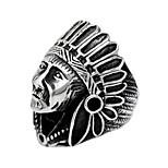 Ring Euramerican Titanium Steel Irregular Black Jewelry For Daily 1pc