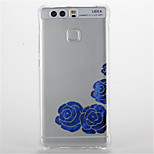 For  Huawei P9/P9 Lite Shockproof Transparent Pattern Case Back Cover Case Flower Soft TPU  Huawei P8 Lite