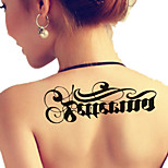 Temporary Tattoos Shoulder Body Message Series 3D Waterproof Tattoos Stickers Non Toxic Glitter Large Fake Tattoo Body Jewelry Halloween Gift 22*15cm